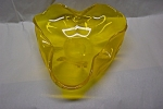 MURANO Dark Yellow Folded Bowl