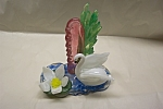 Click here to enlarge image and see more about item AGM038: MURANO Art Glass Swan & Lily Pad Scene