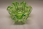 MURANO Pale Green/Listerine Handblown Art Glass Bowl