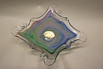 Click to view larger image of MURANO Handblown Cased Art Glass Abstract Dish (Image1)