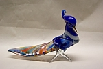 Click here to enlarge image and see more about item AGM045: MURANO Art Glass Bird