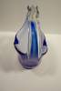 Click to view larger image of Cobalt Blue Handblown Art Glass Basket (Image3)