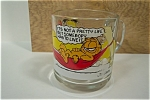 Click here to enlarge image and see more about item ASMCD004: Garfield Glass Mug