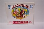 Click here to enlarge image and see more about item CBL002: La Confession Cigar Box Label