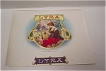 Click here to enlarge image and see more about item CBL007: Lyra Cigar Box Label