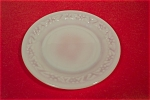 Click here to enlarge image and see more about item DAH0002: Anchor Hocking Daisy Pattern White Glass Salad Plate