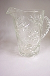 Early American Prescut Glass 60 OZ. Pitcher