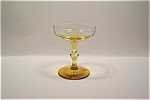 Amber And Crystal Stemware Champagne/Dessert