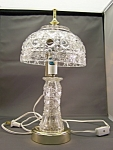 Elegant Vintage Crystal Glass Lamp
