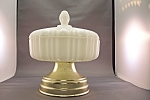Vintage  Anchor Hocking Milk Glass Covered Candy Dish