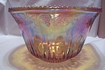 Click here to enlarge image and see more about item FAC00026: Marigold Carnival Glass Punch Bowl