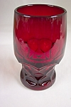 FireKing Georgian Pattern Ruby Footed Tumblers