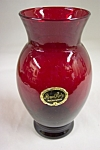 Click here to enlarge image and see more about item FAC00037: Anchor Hocking /FireKing Royal Ruby Vase