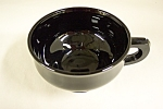 Click here to enlarge image and see more about item FAC00041: Black Glass Cup