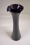 Black Glass Bud Vase