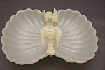 Click here to enlarge image and see more about item FAC00082: Avon Milk Glass Dove Soap Dish