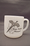Click to view larger image of Federal Milk Glass Mug With Bird Decals (Image1)