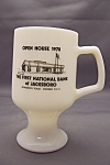 Fire King /Anchor Hocking Advertising Pedestal Mug