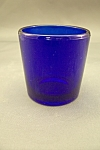 Cobalt Blue Glass Toothpick Holder
