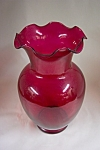 Click to view larger image of Anchor Hocking Ruby Red Glass Vase (Image1)