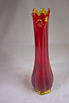 Click here to enlarge image and see more about item FAC00335: Vintage Handblown Amberina Handblown Art Glass Bud Vase