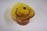 Smith Daisy & Button  Handmade  Amber Art Glass Hat