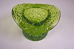 Smith Daisy & Button Handmade Green Art Glass Hat