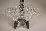 Avon Daisy & Button Crystal Glass Fan Dish