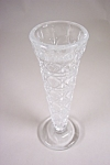 Daisy & Button Crystal Glass Bud Vase