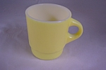 FireKing Yellow & White Glass Mug