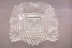 Click here to enlarge image and see more about item FAC00530: Folded Crystal Glass Candy Dish