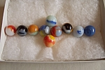 Click here to enlarge image and see more about item FAC00566: 1By10 Set Of Swirl Marbles