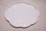 Click here to enlarge image and see more about item FAC00589: Indiana Milk Glass Grape Pattern Snack Tray