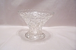 "Anchor Hocking EAPC 6"" Pedstal  Crystal Glass Bowl"