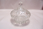 "EAPC 5-1/4"" Crystal Glass Lidded Candy Dish"