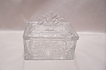 Elegant Snowflake Design Lidded Glass Cache Box