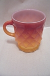 FireKing Kimberly Two-Tone Orange Mug
