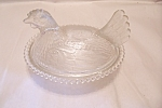 Click here to enlarge image and see more about item FAC00652: Indiana Carnival Glass Nesting Hen Covered Dish