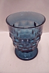 Indiana Whitehall Cobalt Blue Glass Tumbler