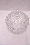 Indiana Crystal Glass Whitehall Lidded Candy Dish