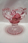 Click here to enlarge image and see more about item FAC00667: Vintage Crystal & Ruby Glass Compote