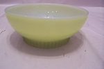 Click here to enlarge image and see more about item FAC00690: FireKing Avocado/Light Green Davy Crockett Bowl