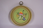 Framed Mushroom & Snail Needlepoint Picture