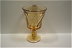 Click here to enlarge image and see more about item FOST003: Light Amber Fostoria Goblet