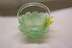 Handblown Spatter Art Glass Basket