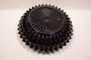 Click to view larger image of Black Glass English Hobnail Bowl (Image2)