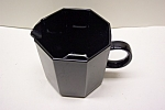 Click here to enlarge image and see more about item GBL003: Black Glass 8-Sided Creamer