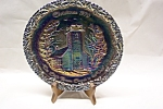 Click here to enlarge image and see more about item GFG0004: FENTON  Christmas 1970 Carnival Glass Plate