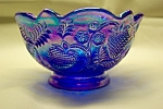 Click here to enlarge image and see more about item GFG0015: FENTON Deep Purple Carnival Art Glass Bowl