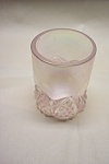 Click to view larger image of FENTON Pink Opalescent Glass Toothpick Holder (Image1)